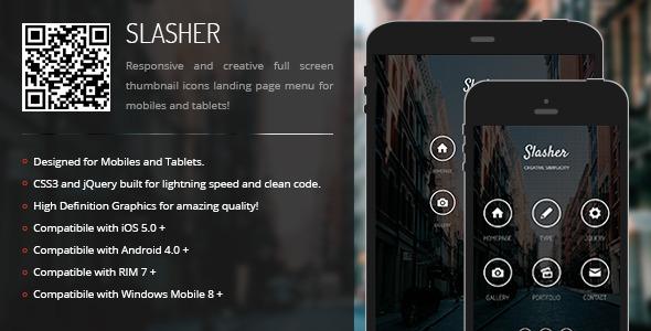 CodeCanyon Slasher Creative Navigation for Mobile & Tablets 6863476