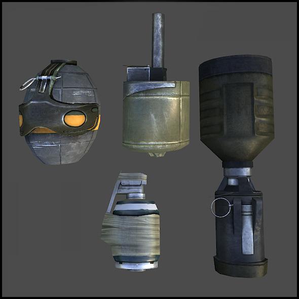 3DOcean Hand Grenades 6863482