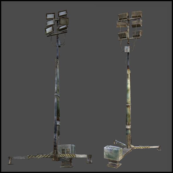 External Flood Light - 3DOcean Item for Sale