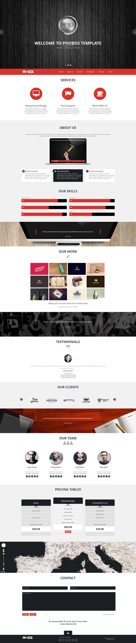 Phobos - One Page Responsive Template