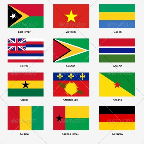 GraphicRiver Flag Set of World Sovereign States 6863596