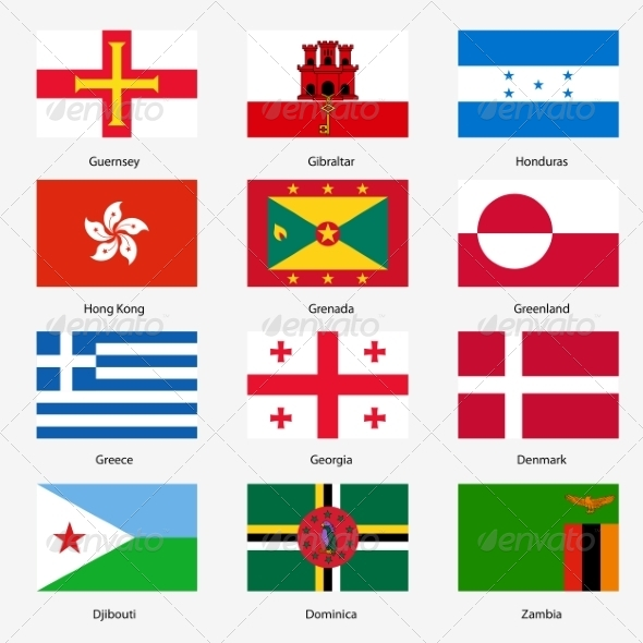 GraphicRiver Flag Set of World Sovereign States 6863597