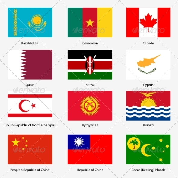 GraphicRiver Flag Set of World Sovereign States 6863600