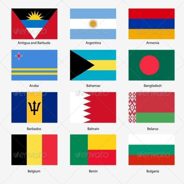GraphicRiver Flag Set of World Sovereign States 6863603