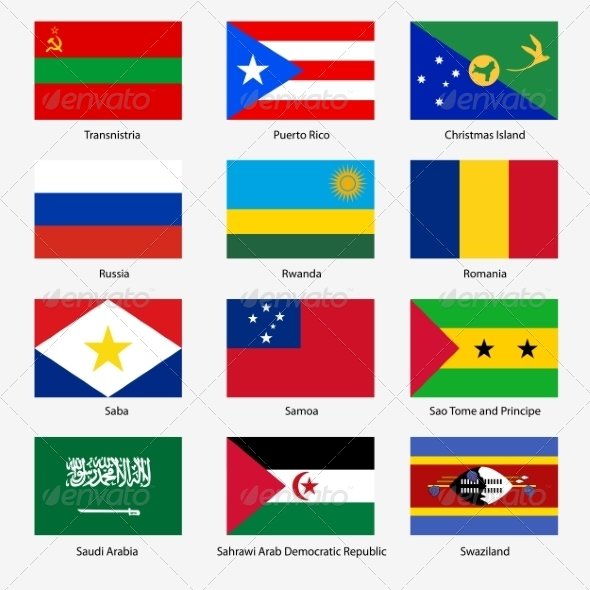 GraphicRiver Flag Set of World Sovereign States 6863606