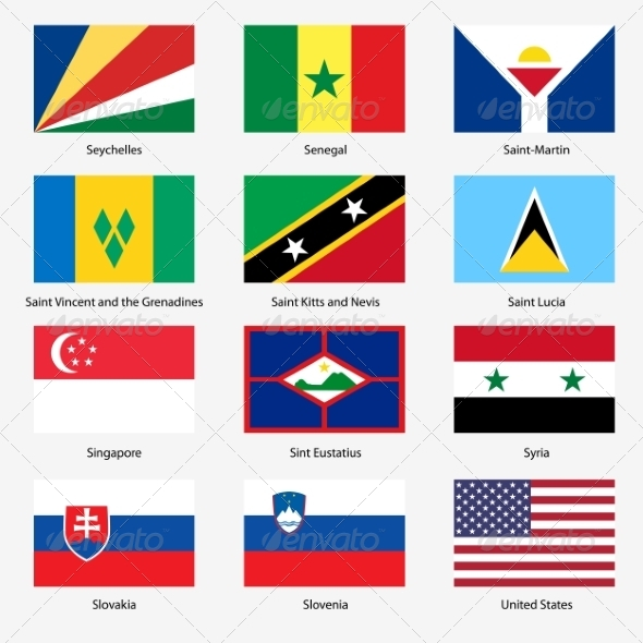 GraphicRiver Flag Set of World Sovereign States 6863607