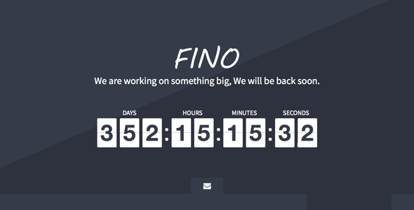 ThemeForest Fino Coming Soon Template 6863673