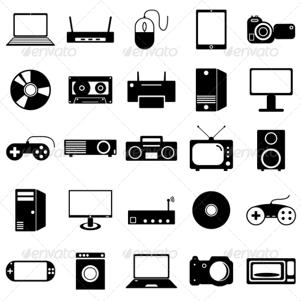 GraphicRiver Collection of Electronic Device Icons 6863681