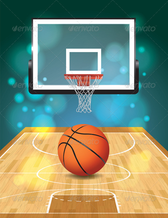 GraphicRiver Vector Basketball Court Illustration 6855933