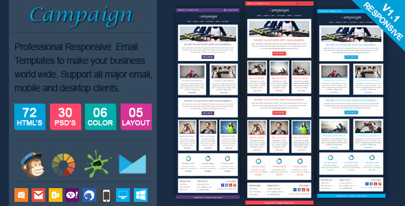 ThemeForest Campaign Professional Responsive Email Template 6864311