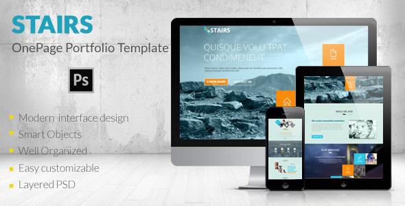 Stairs - OnePage Portfolio Template - Portfolio Creative