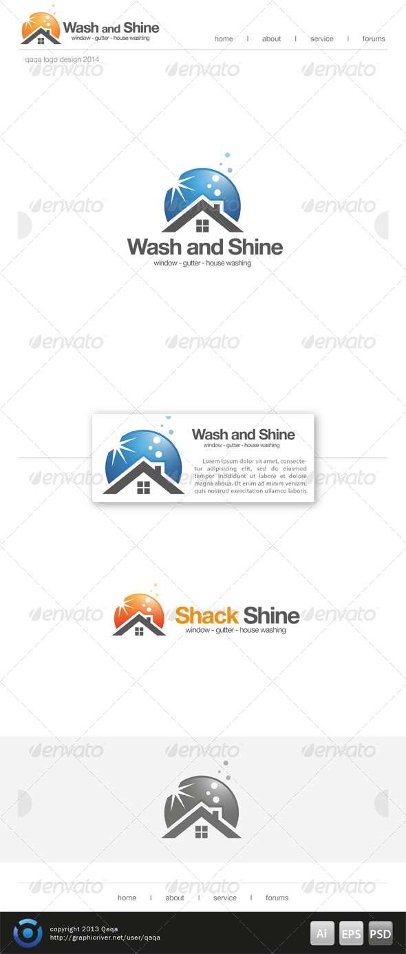 GraphicRiver House Washing Logo 6864743