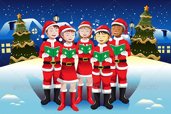 GraphicRiver Children Singing in Christmas Choir 6864907