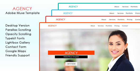 Agency Muse Template - Corporate Muse Templates