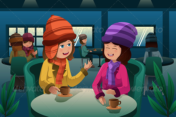 GraphicRiver People Drinking Coffee 6864971