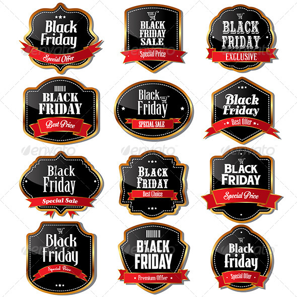 GraphicRiver Black Friday Sale Labels 6864982