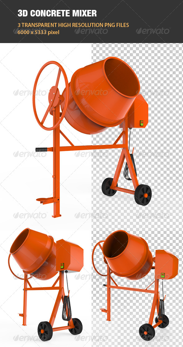 GraphicRiver 3D Concrete Mixer 6865060