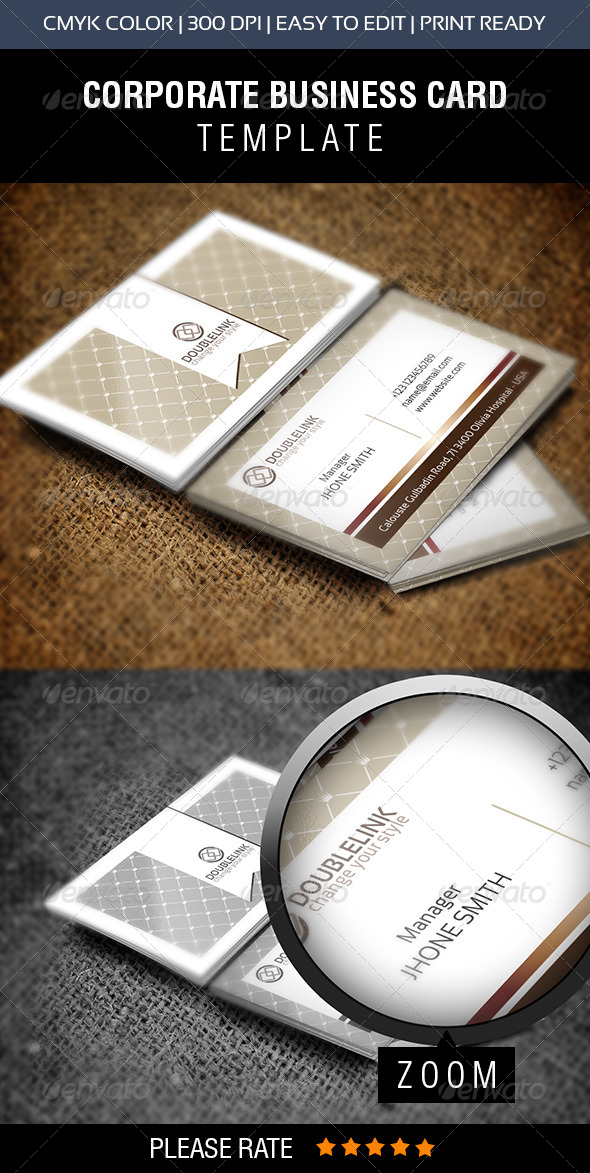 GraphicRiver Double Click Pattern Business Card 6865179