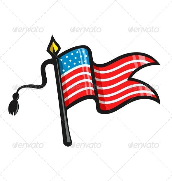 GraphicRiver USA Flag 6865336