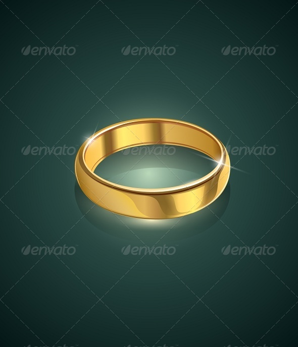 GraphicRiver Golden Wedding Ring 6865408