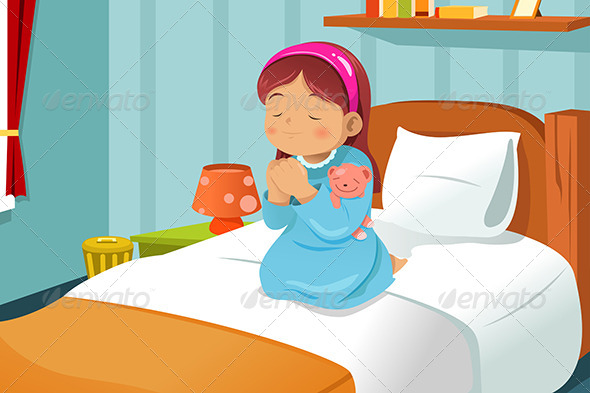 GraphicRiver Little Girl Praying 6865416