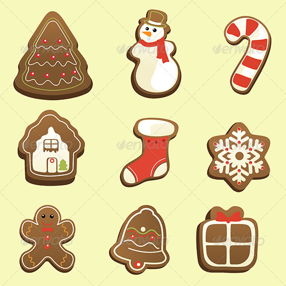 GraphicRiver Gingerbread Icons 6865420
