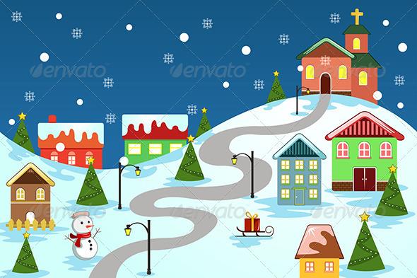 GraphicRiver Winter Village 6865432