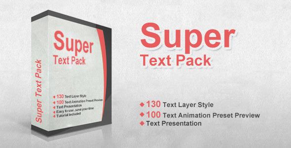 AE模板:超级文字动画预设样式 时尚现代文字特效  栏目包装专题片MG运动图形模板super text pack