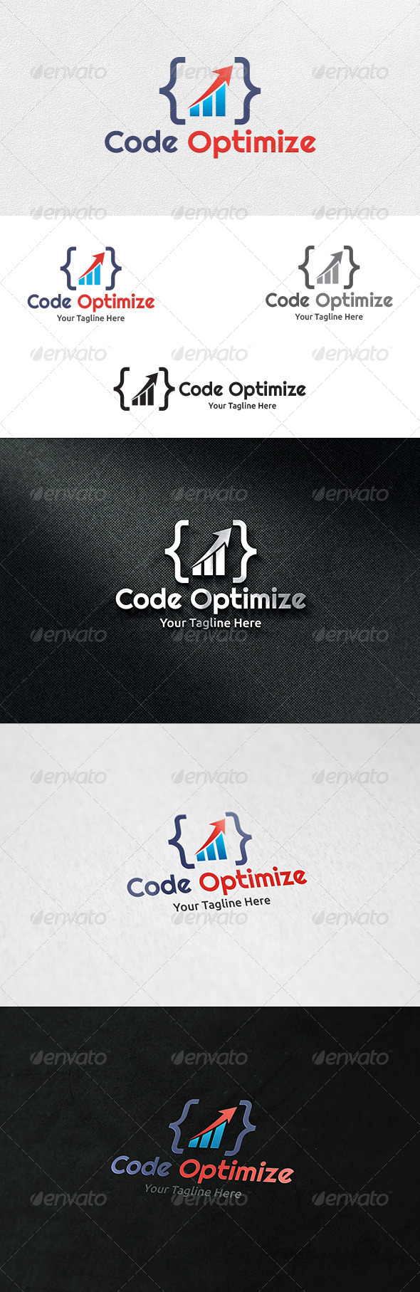 Code Optimize Logo Template