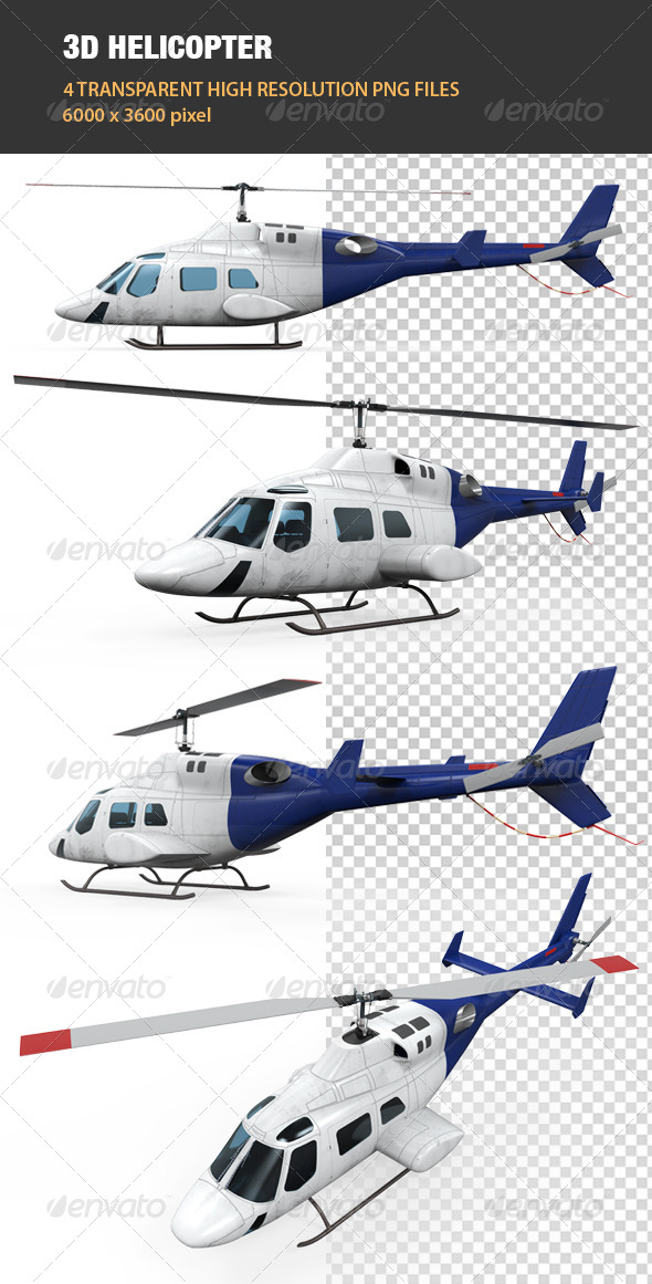 GraphicRiver 3D Helicopter 6865899