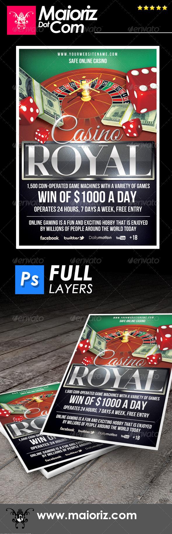 GraphicRiver Casino Online Flyer 6865901
