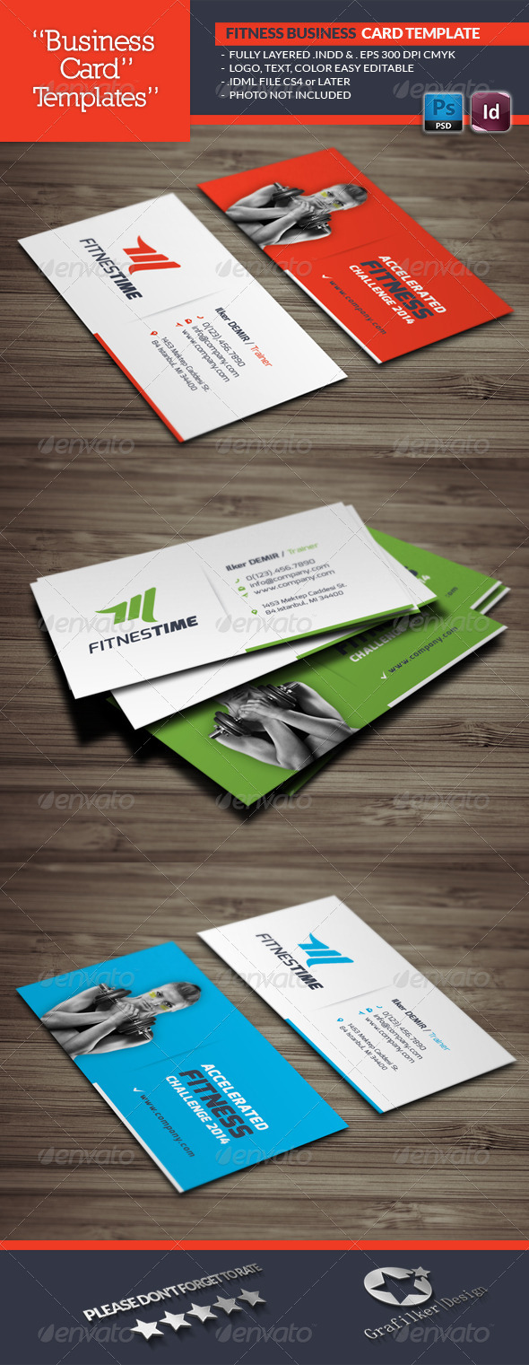 GraphicRiver Fitness Business Card Template 6865943
