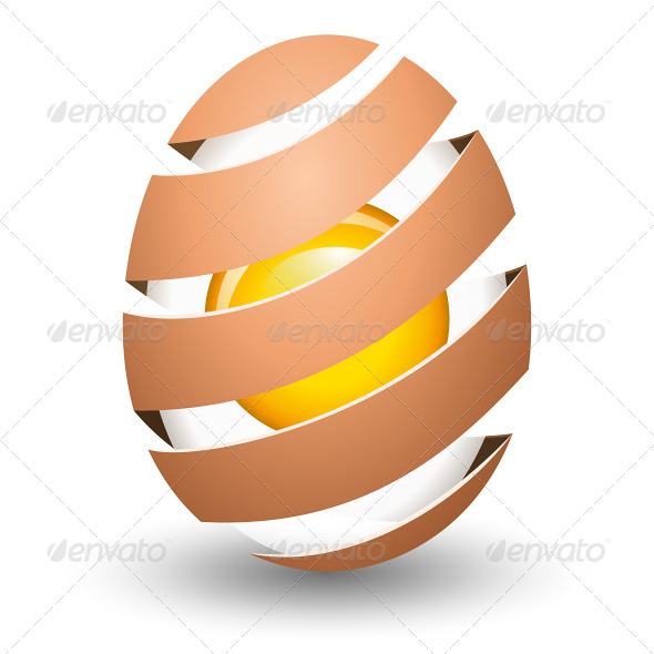 GraphicRiver Abstract Egg with Yolk on White Background 6866032