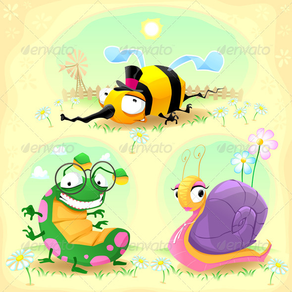 GraphicRiver Two Insects and One Snail 6866194