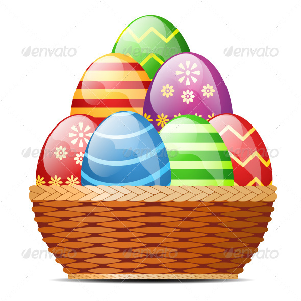 GraphicRiver Basket with Easter Eggs 6866219