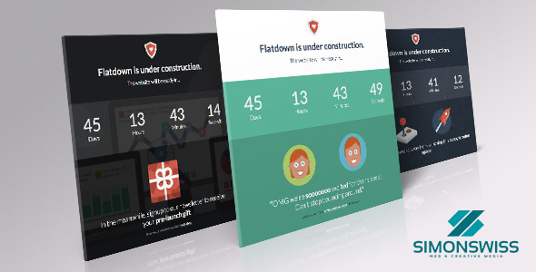ThemeForest Flatdown Flat UI Pro In Construction Template 6866242