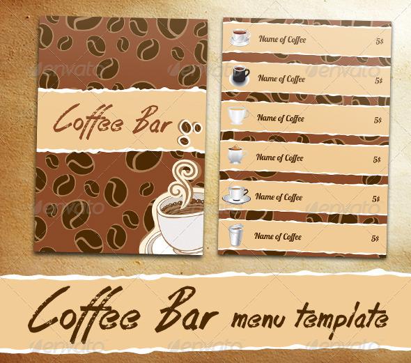 GraphicRiver Coffee Bar Menu 6866275