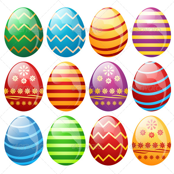 GraphicRiver Set of Easter Eggs 6866320