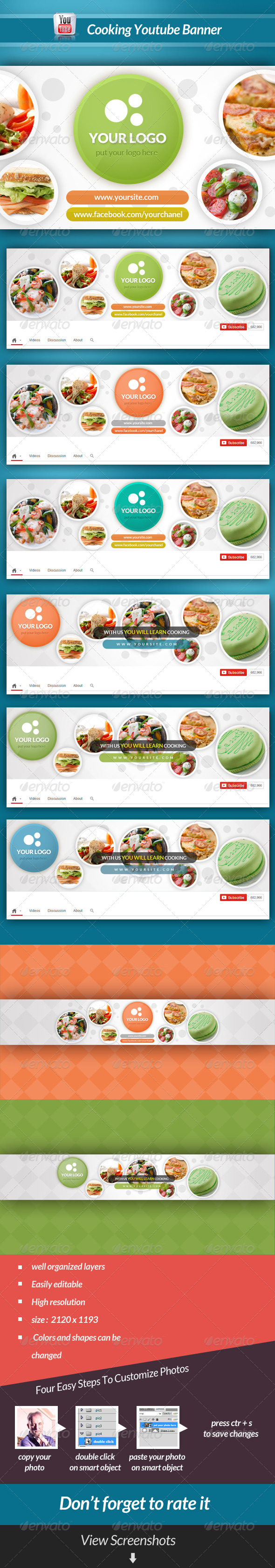GraphicRiver Cooking Youtube Banner 6860372