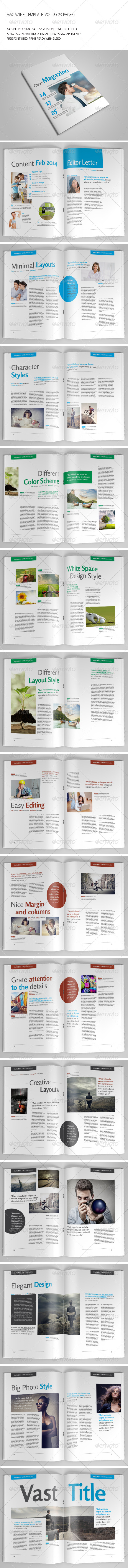 GraphicRiver 29 Pages Simple Magazine Vol8 6866421
