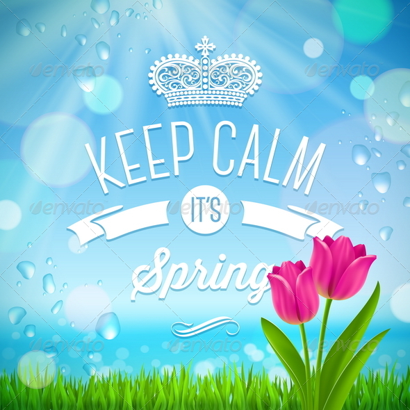 GraphicRiver Keep Calm it s Spring 6866573