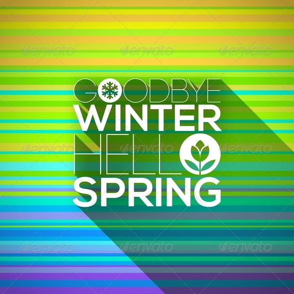 GraphicRiver Spring Greeting Design 6867163