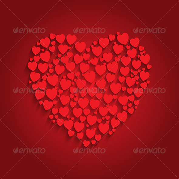 GraphicRiver Heart Background 6867339