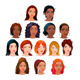 Indian, Black, Asian and Latino Women - GraphicRiver Item for Sale