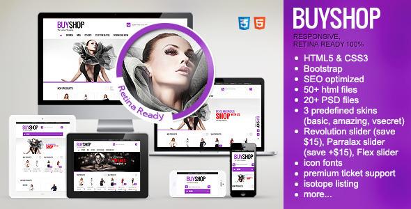 BuyShop - Premium Responsive Retina HTML theme - Retail Site Templates