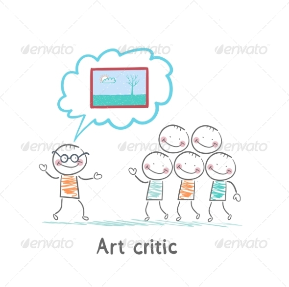 GraphicRiver Art Critic Tells People About the Picture 6867656