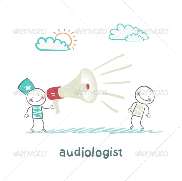 GraphicRiver Otolaryngologist Yells into a Megaphone on Patient 6867657