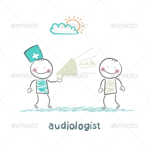 GraphicRiver Otolaryngologist Yells into a Megaphone on Patient 6867660