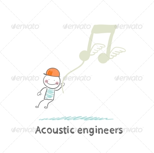 GraphicRiver Acoustic Engineer Flies Through Notes 6867664