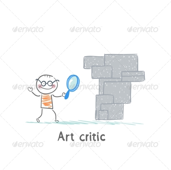 GraphicRiver Art Critic Looks at the Work of Art 6867673